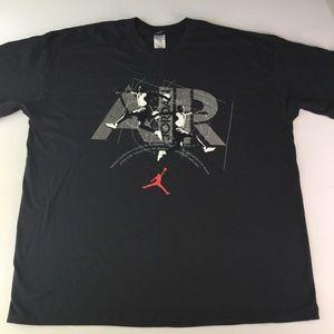 Jordan shirt tshirt SZ 3XL black basketball